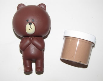 squishy and slime  chocolate  scented surprise charm brown bear
