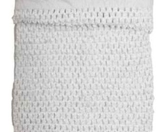 new Girls Large 11 x 9 Inch lined Crochet tutu top tube White size 6-10 years