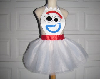 Forky Toy story Tutu Halloween costume  inspired apron tutu dress teen women child girl