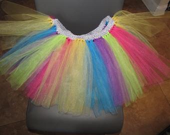 Marathon running tutu adult women teen jr wedding flower girl Dance Ballet Costume rainbow