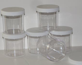 6 sets  6 oz  clear slime jars containers slime supplies shop party favors gifts 6 piece