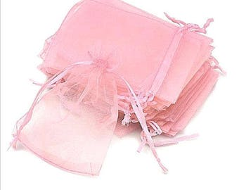 """new 100 pieces 2"""" x 3"""" MINI Organza Bags Party Favor Gifts wedding pouches jewerly candy pink baby shower girl 100"""