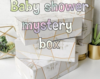baby shower mystery box gift Girl Boy Unisex cute items personalized