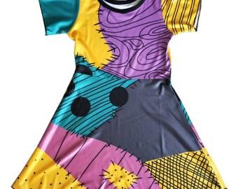 child princess Jack Skelington sally Halloween costume inspired  dress 5 yrs