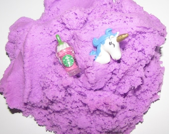 NEW!! slime unicorn frappuccino starbucks coffee inspired cloud slime charm included scented