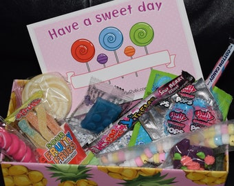 Have a sweet day send a gift box & greeting card boy girl child love friend birthday back to school quarentine FREE Shipping