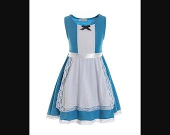 child princess Alice Halloween costume inspired  dress 2 - 8 yrs