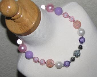 new Acrylic chunky beads bubblegum gumball jewlery girl Necklace Birthday sofia Easter