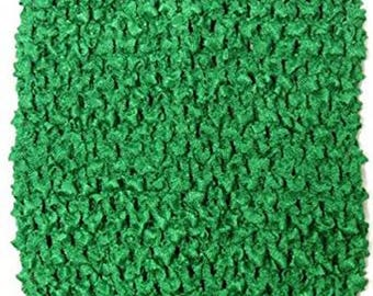 "Child unlined lined Crochet tutu top tube 1-12 years DIY flower girl wedding dress birthday costume kelly emerald green  6"" 7"" 8"" 10"" 12"""