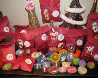 Christmas Advent Calender & Santas Nice List Certificate card Mystery slime squishies gifts for child stocking stuffers Christmas ornament