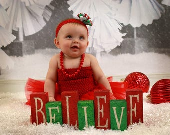 "new Girls girl baby child 7 Inch lined Crochet tutu top tube 1-3 years DIY flower girl wedding dress birthday  7"" red"