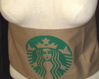 Halloween costume coffee starbucks inspired sash belt child women food and drink apron waiter men women child
