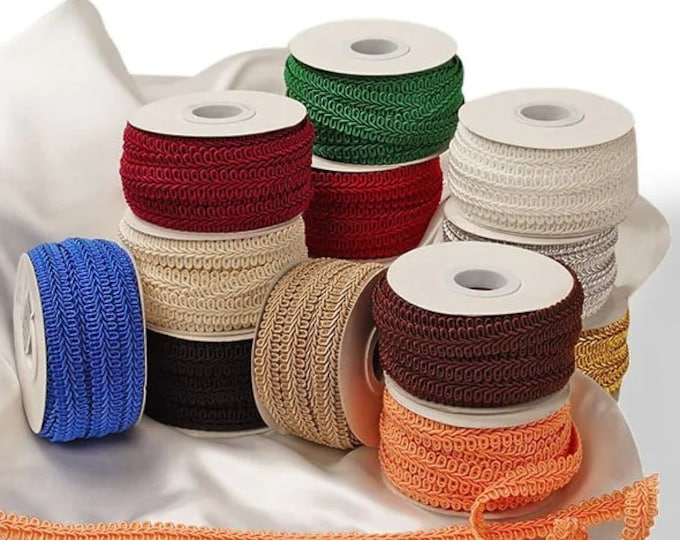 Featured listing image: 10 yards bolt French Gimp Trim favors decor SEWING craft ribbon Upholstery