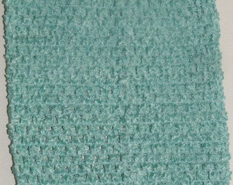 "child adult teen Crochet tutu top elastic tube 1-16 years DIY flower girl wedding dress birthday costume aqua  6"" 7"" 8"" 10"" 12"" 14"""