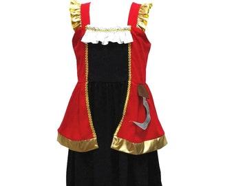 child princess  captain pirate hook Halloween costume inspired  dress 5 yrs