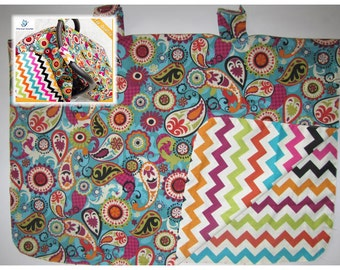 CLOSEOUT chevron paysley Baby Car Seat Canopy cover girl boy shower gift sun cover
