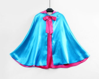 New hooded princess fairy God mother  Birthday pretend play Costume  cape Women