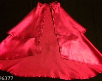 CLOSEOUT New Anna Inspired cape frozen satin hot pink  princess Costume  girl toddler 4-7 years