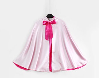 New hooded princess fairy God mother  Birthday pretend play Costume  cape Women child