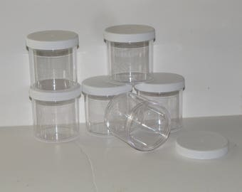6 clear slime jars  containers 6 oz 8 oz 12 oz DIY party favor