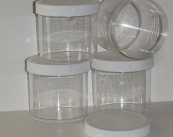 12 oz  clear slime jars containers party favors gifts FREE shipping 4 piece