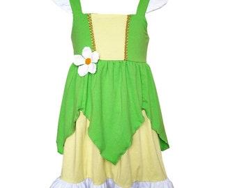 child tiana  costume inspired  dress birthday party 5 yrs