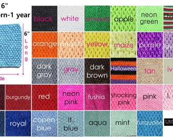 "new Girls 6""  Crochet tutu top tube many  color you choose  for tutu dress headband Holiday"
