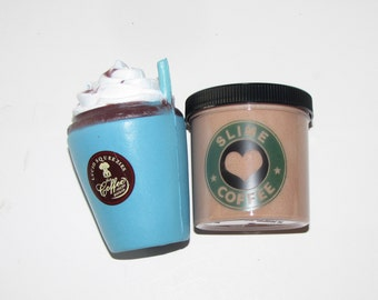 squishy and slime  mocha coffee scented surprise charm coffee cup