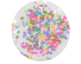 Slime white birthday party cupcake sprinkles super soft stretchy  scented party favors gifts stress relief