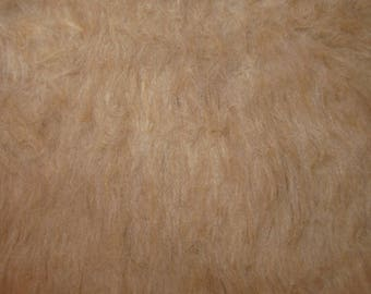 "Fabric  Photo Floor Prop 36"" x 60"" baby craft  1 yd home decor FAUX  fur tan light golden brown"