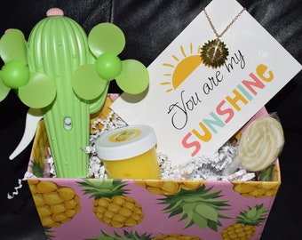 You are my sunshine send a gift box & greeting card slushy slime tween girl love friendship birthday back to school quarentine FREE Shipping