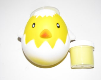 squishy and slime Easter egg chick yellow cupcake scent