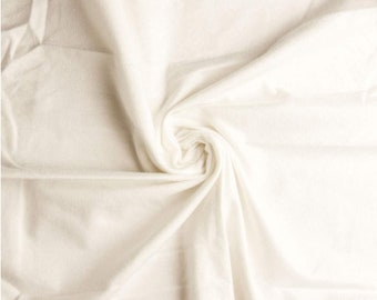 "Comfy Cozy Flannel Fabric Solids 100% Cotton  by the yard  Fast shipping  43"" wide white"