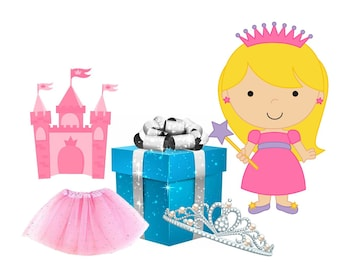 Princess mystery gift box Girl accessories and pretend play  2-10 yrs