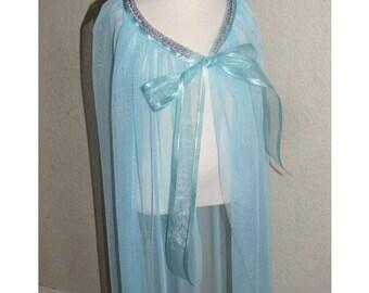 New princess Elsa Frozen Inspired Costume  cape girl toddler 4-8 years