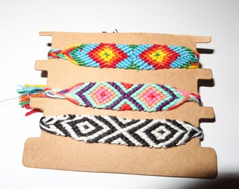 3 bracelets handmade friendship  bracelet woven