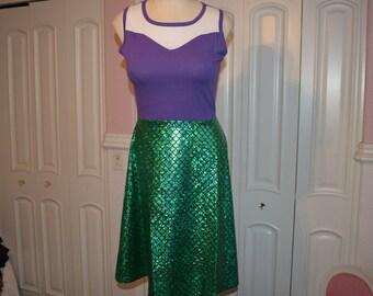 Adult women teen Little mermaid Halloween costume inspired  dress S M XL