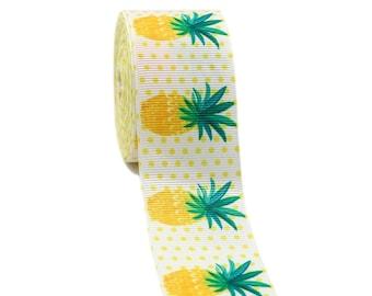 "pineapple RIBBON ribbon for bow  Printed Grosgrain ribbon by the yard 1.5"""