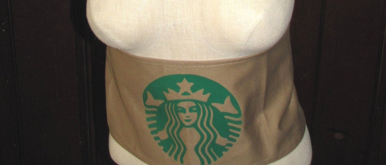 Halloween costume coffee starbucks inspired sash belt child women food and drink with hair clip