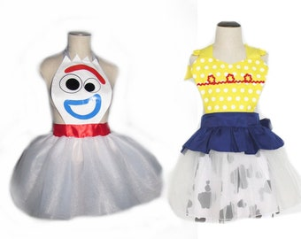 Forky Jessie Toy Story costume child adult  inspired apron tutu dress Christmas gift stocking stuffer cooking tea party pretend dress up