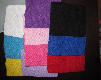 "new Girls 12""  Crochet tutu top tube many  color you choose  for tutu dress headband XL  size 6-14"