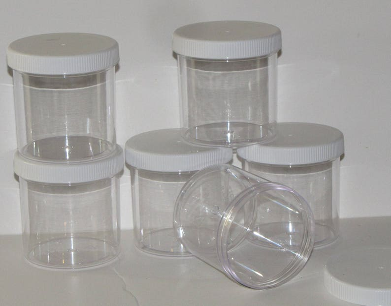 5fe634f6ec79 6 sets 6 oz clear slime jars containers slime supplies shop party favors  gifts 6 piece