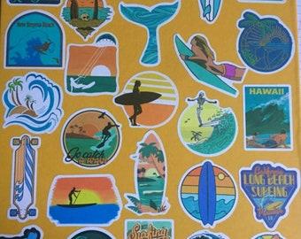 40 piece  Vsco surf beach Sticker Inspirational Life Quotes Waterproof DIY Laptop Room Scrapbooking Motto Graffiti Decal
