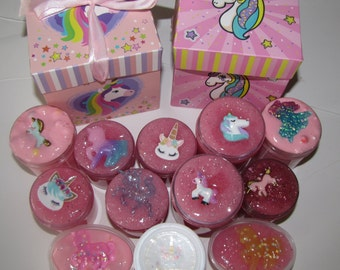 MYSTERY unicorn slime charm included scented with party birthday box