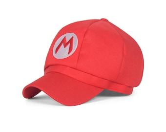 Super Mario Hat Cap Mario Bros Cosplay Snapback Baseball  Costume Halloween Party  Adult Prop birthday