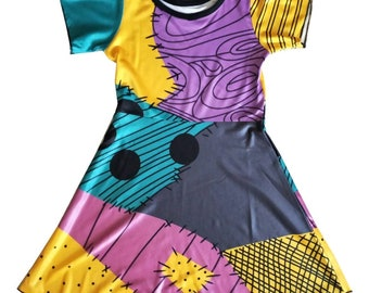 child and adult  Jack Skelington sally Halloween costume inspired  dress mom and daughter matching