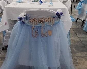 Tulle Tutu chair cover Wedding Baby Shower High chair first Birthday party supplies You choose color