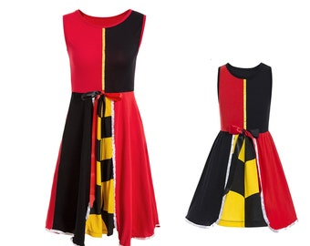 child adult princess queen of hearts Halloween costume inspired  teen mom daughter matching dress 2 - 8 yrs adult S-L