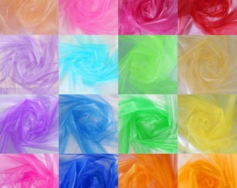 "10 Yards Organza Fabric 60"" Quality Sheer Draping Craft Party Wedding decoration"