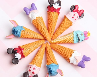 Ice cream cones disney  inspired  party favors gifts charm for slime cabochons